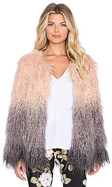Show Me Your Mumu Bohemia Faux Fur Jacket in Spirit Bear