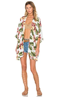 Show Me Your Mumu Bali Kimono in Aloha Blooms Cloud