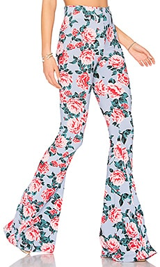 Bam Bam Bells Pant in Cabbage Rose Spandy