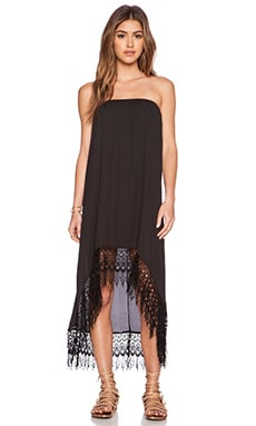 Show Me Your Mumu Tulum Convertible Dress & Skirt in Black Crisp