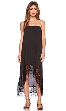 Show Me Your Mumu Tulum Convertible Dress & Skirt in Black Crisp