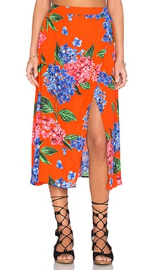 Show Me Your Mumu Flirt Skirt in Bahama Bloom
