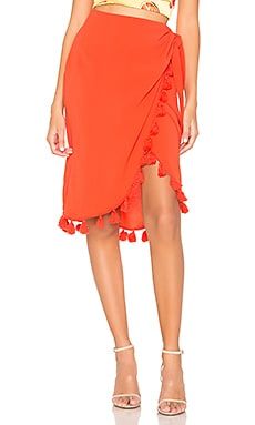 Anjolie Wrap Skirt With Tassels Show Me Your Mumu $76