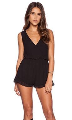 Show Me Your Mumu Riri Romper in Black Chiffon