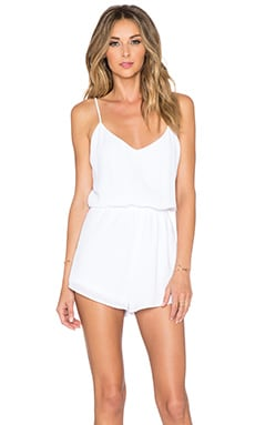 Show Me Your Mumu Rorey Romper in White Crisp