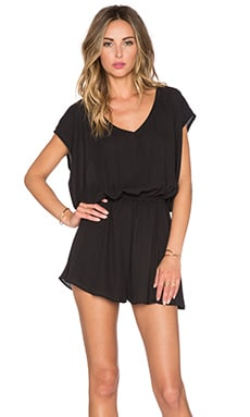 Show Me Your Mumu Rowdy Romper in Black Crisp
