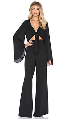 Jaelynn Jumpsuit in Black Crisp