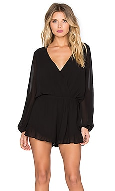 Show Me Your Mumu Rocky Romper in Black Chiffon