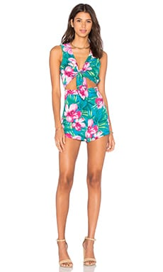 Show Me Your Mumu Nantucket Romper in Lady Luau Stretch
