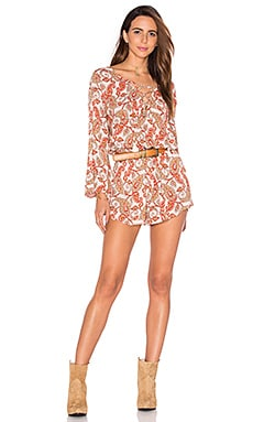 Show Me Your Mumu Tillie Tie Romper in Paisley Daze Cloud