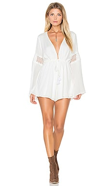 Show Me Your Mumu Sparrow Romper in White Cloud