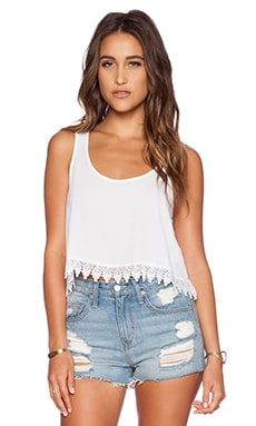 Show Me Your Mumu Chevon Tank in White Crisp