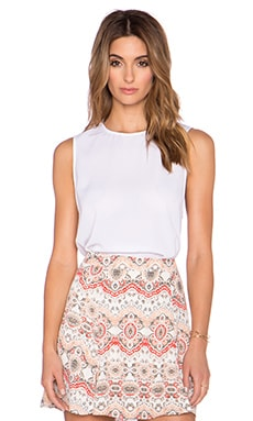 Show Me Your Mumu Sherman Tunic Tank in White Crisp