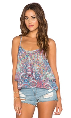 Show Me Your Mumu Jodi Rae Ruffle Tank in Great Barrier Reef