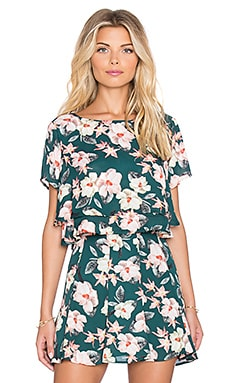 Show Me Your Mumu Candice Crop Top in Emerald City