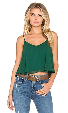 Charlie Crop in Hunter Chiffon