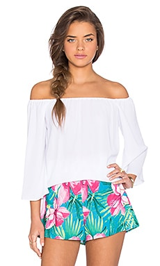 Show Me Your Mumu Wallie Tunic in White Crisp