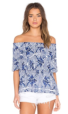 Show Me Your Mumu Bungalow Top in Myko Niko Cloud