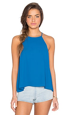 Selena Top in Blue Lagoon Crisp
