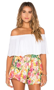 Show Me Your Mumu Bungalow Top in White Cloud