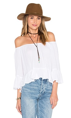 Shirley Top in White Cloud