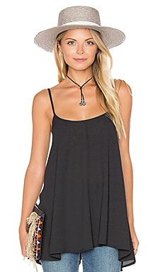 Show Me Your Mumu Lenz Spaghetti Top in Black Crisp