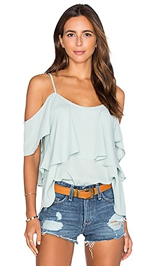 Show Me Your Mumu Romance Top in Sea Mist Crisp