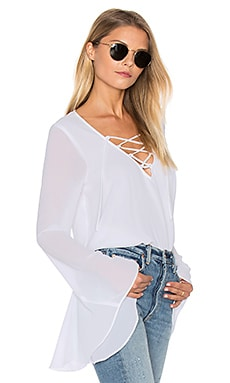 Zuko Top in White Chiffon