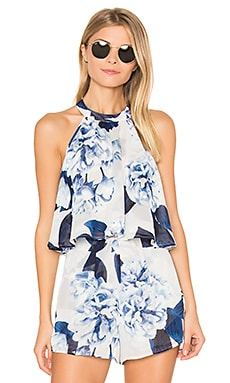 Mateo Tie Back Top en Bouquet Blue