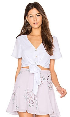 Tortuga Top in White Chiffon