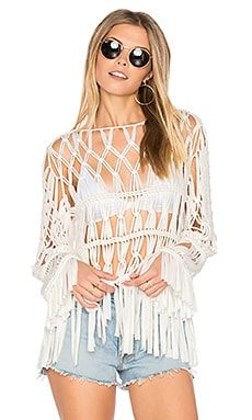 Dreamweaver Fringe Top in Sahara Crochet