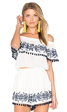 Teagan Pom Pom Crop Top