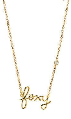 Shy by Sydney Evan Foxy Necklace in Gold
