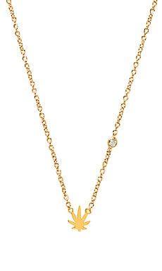 Shy by Sydney Evan Pot Leaf Necklace in Gold