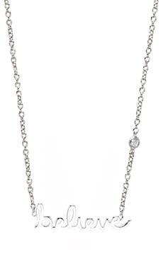 Shy by Sydney Evan Believe Necklace with Diamond in White Rhodium