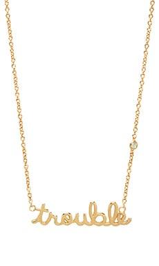 Shy by Sydney Evan Trouble Necklace with Diamond Bezel in Yellow Gold
