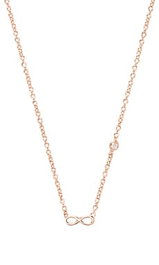 Shy by Sydney Evan Infinity Necklace with Diamond Bezel in Rose Gold