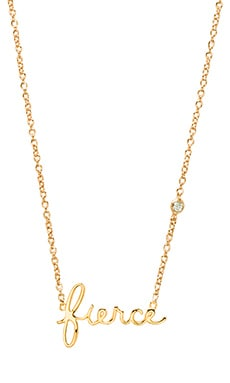 Shy by Sydney Evan Fierce Necklace with Diamond Bezel in Yellow Gold