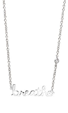 Shy by Sydney Evan Breathe Necklace with Diamond Bezel in Sterling Silver