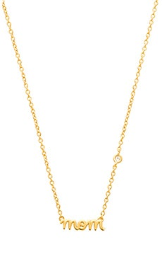 Shy by Sydney Evan Mom Necklace in Yellow Gold Plating