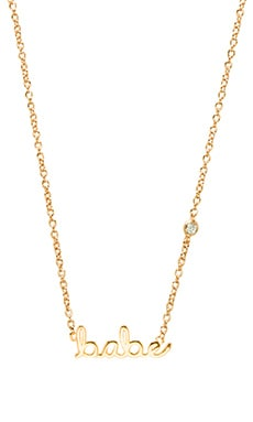 Shy by Sydney Evan Babe Necklace in Yellow Gold Plating