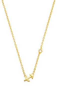 Shy by Sydney Evan Sagittarius Necklace in Yellow Gold Plating