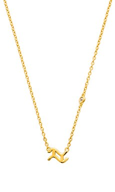 Shy by Sydney Evan Aquarius Necklace in Yellow Gold Plating