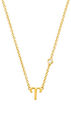 Shy by Sydney Evan Aries Necklace in Yellow Gold Plating