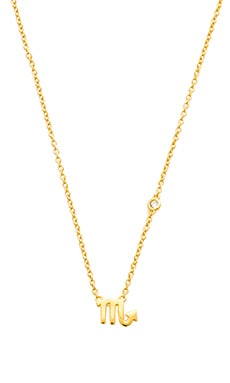 Shy by Sydney Evan Scorpio Necklace in Yellow Gold Plating