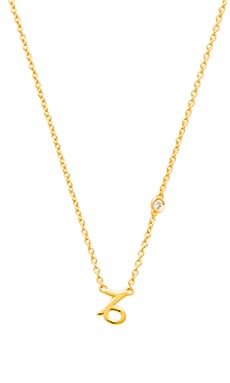 Shy by Sydney Evan Capricorn Necklace in Yellow Gold Plating