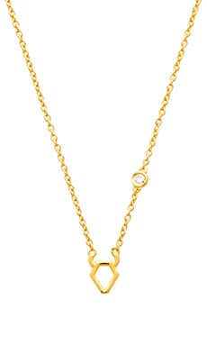 Shy by Sydney Evan Taurus Necklace in Yellow Gold Plating