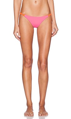 siempre golden Tres Amigos Bikini Bottom in Hot Pink