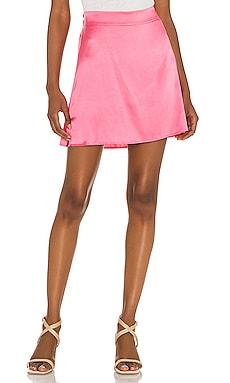 Iris Mini Skirt Silk Roads by Adriana Iglesias $195
