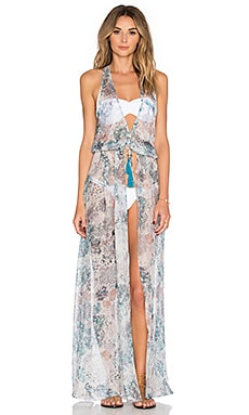 Sinesia Karol Cassia Maxi Dress in Dreamy Blooms Turquoise